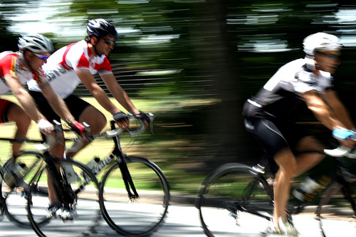 Cyclists in Central Park
